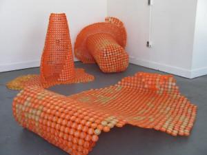 Plastic Caps Orange